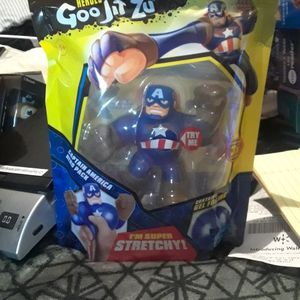Marvel Captain America Super Stretchy Heroes Of Goo Jit Zu for Sale in San Antonio, TX