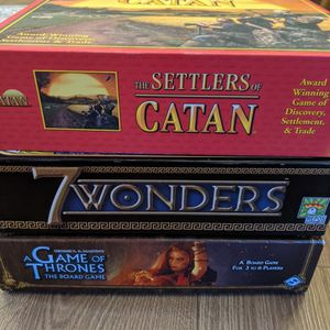 Board Game Lot - Catan 7 Wonders Game Of Thrones for Sale in San Diego, CA