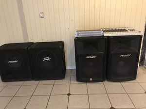 Sound System with mixer, eq, 2PA Speakers and 2 Bass enclosure for Sale in Smyrna, TN