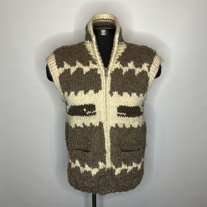 VTG Cowichan Indian Wool by Canadian Sweater Co. mens Medium for Sale in Seattle, WA