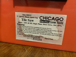 Tile Saw (CHICAGO Electric Power Tools) for Sale in Woodbridge, VA