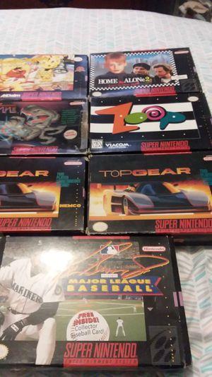 Super Nintendo cib games for Sale in Waterbury, CT