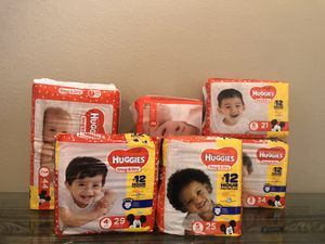 Huggies Diapers sizes 1-6 $6.00ea for Sale in Orlando, FL