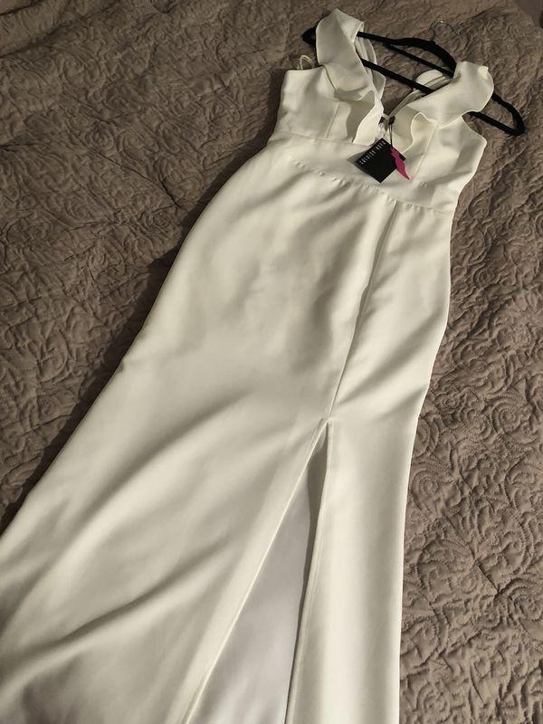 Ivory Fashion Nova Dress NWT