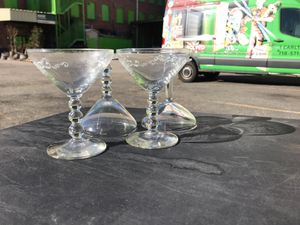 Set of 4 antique cocktail glasses for Sale in Brooklyn, NY