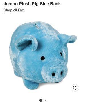 Jumbo Plush Piggy Bank, Hug Me and Fill Me! (Blue ),Stuffed animal, kids toy for Sale in San Diego, CA