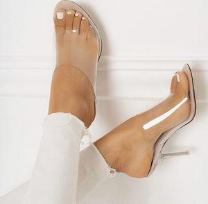 Slide on clear heels for Sale in Lynwood, CA