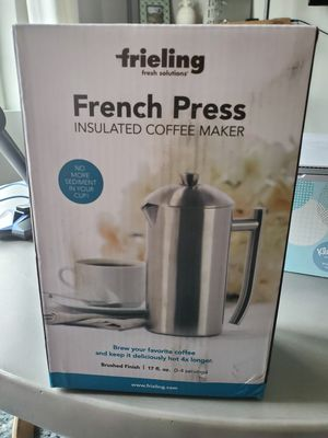 Stainless steel french press insulated coffee maker, new in box for Sale in West Jordan, UT