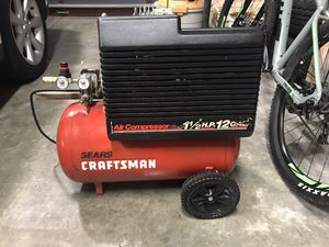 Craftsman 12 Gallon Belt Driven Compressor . for Sale in Federal Way, WA