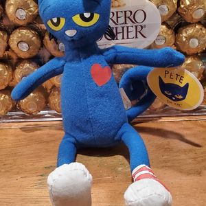 """Pete The Cat Plush Doll Blue Stuffed Animal In Mismatched Sneakers Soft Toy 10"""" for Sale in Sunrise Manor, NV"""