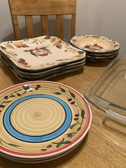 Dinner Table, Chairs, Plates for Sale in Beaverton,  OR
