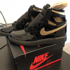 Mens Air Jordan 1 High Black/Metallic/Gold Sz 9.5 for Sale in Ashburn, VA
