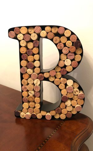 Metal letter filled wine cork holder- Any letter for Sale in Estero, FL