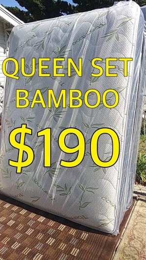 QUEEN BAMBOO MATTRESS AND BOX SPRING for Sale in Los Angeles, CA