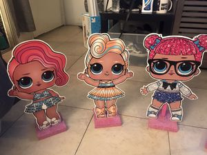 """LOL SURPRISE 17"""" WOODEN STANDS- $10 Each for Sale in Garden Grove, CA"""