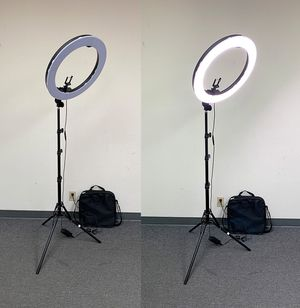 "$90 each NEW LED 19"" Ring Light Photo Stand Lighting 50W 5500K Dimmable Studio Video Camera for Sale in Pico Rivera, CA"