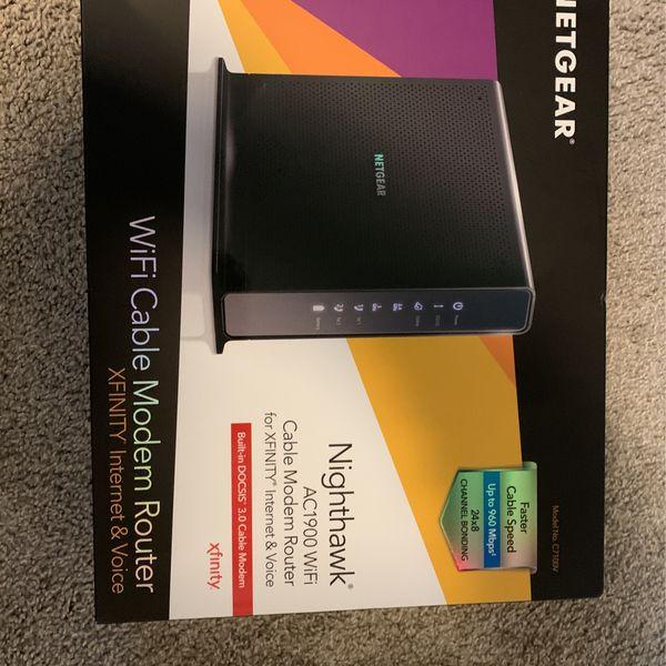 Netgear Nighthawk AC1900 Wifi Cable Modem Router (Xfinity Compatible)