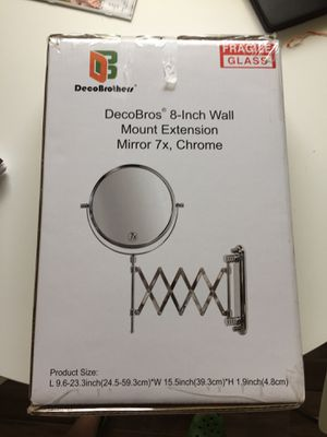 DecoBros 8 in wall mount mirror for Sale in Leander, TX