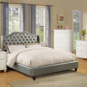 Brand New California King Glam Bed Crystal Tufting Nailhead Trim for Sale in Riverside, CA