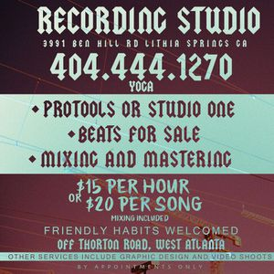 Studio time -beats-videos-graphics for Sale in Lithia Springs, GA