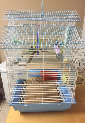 Bird cage with everything for Sale in Pine Hills, FL