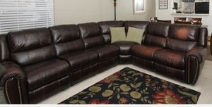 Dark Brown Pleather Sectional for Sale in Winter Springs, FL