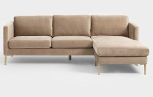 Camel Color Sectional Sofa with Adjustable Chaise for Sale in Los Angeles, CA