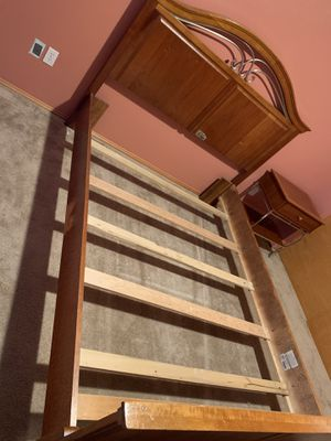 Queen Bed Frame With Matching Nightstand for Sale in Marysville, WA