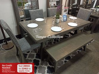 New 6pc Dining Set, Grey, SKU# PDXF2480TC for Sale in Norwalk,  CA