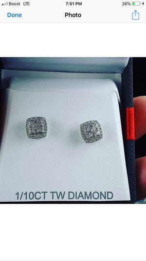 Princess cut diamond earrings for Sale in Columbus, OH