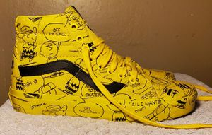 VANS Peanuts Charlie Brown High Tops Mens Size 6.5 Womens Size 8 for Sale in Downey, CA