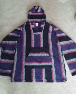 80's Men's Mexican Baja Surfer/Skater Hooded Pullover Poncho/XL for Sale in Germantown, MD