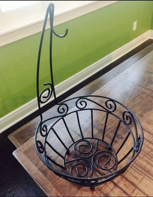 Black iron countertop fruit or vegetable basket for Sale in Tampa, FL