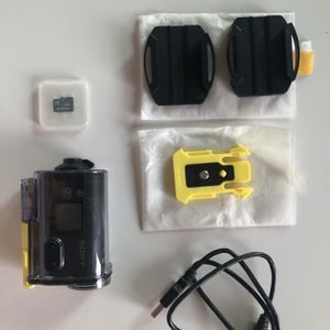 Never Used Sony Action Cam + Accessories + Waterproof Housing for Sale in Portland, OR