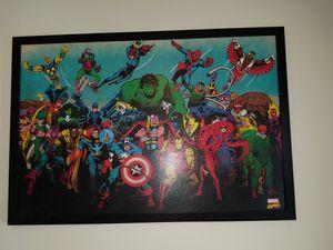 Large Marvel canvas for Sale in Manassas, VA