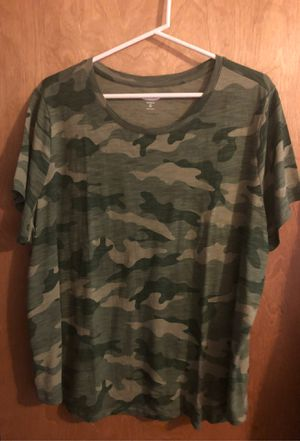 Plus size camo t shirt for Sale in Buckley, WA