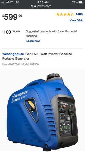 Westinghouse igen 2500 quiet generator for Sale in Houston, TX