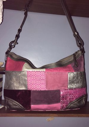 COACH Holiday Patchwork Large Hobo Shoulder Bag for Sale in North Attleborough, MA