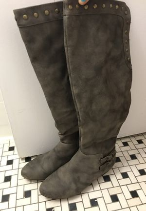 Knee high grey boots for Sale in Fairfax, VA