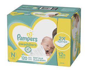 Newborn pampers swaddlers for Sale in Santa Clara, CA