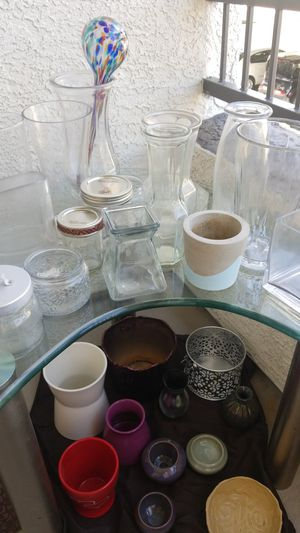 Variety glass vases and plant holders for Sale in Peoria, AZ