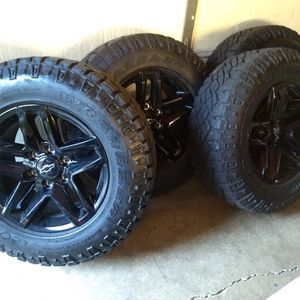 2020 Chevrolet Silverado Trail Boss Wheels and Goodyear Tire for Sale in Lemont, IL