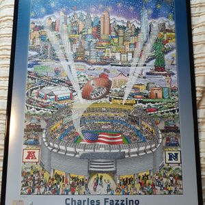 2014 Superbowl POSTER Seahawks Vs Broncos Authentic Framed Beautiful for Sale in Bothell, WA