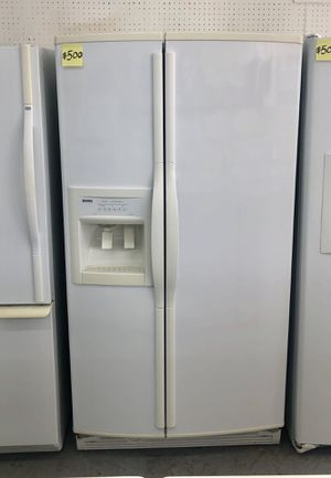 Comes with free 6 Months Warranty-like new white side by side refrigerator Kenmore Elite for Sale in Detroit, MI