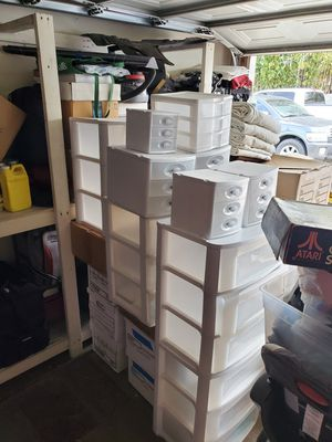 Storage bins plastic drawers for Sale in Garden Grove, CA