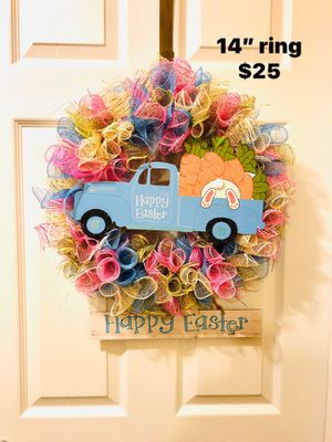 Easter truck bunny eggs door wall wreath for Sale in Florence, KY