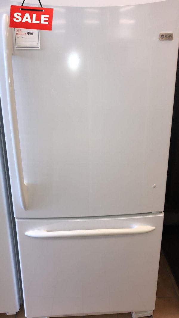 FIRST COME!!CONTACT TODAY! Refrigerator Fridge GE Bottom Freezer #1474