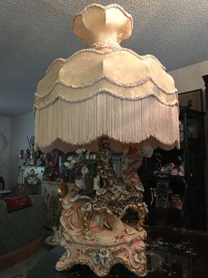 Beautiful capodimonte lamp for Sale in Pasadena, CA