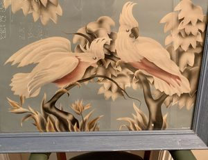 Vintage, mid century, BoHo, signed, Turner print,cockatoos, retro modern Decor, , framed art for Sale in San Marcos, CA
