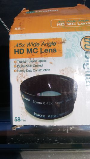 New! 58mm wide angle lens for Sale in East Gull Lake, MN